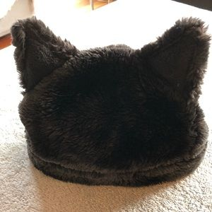Other - Faux Fur Hat - Black with Ears